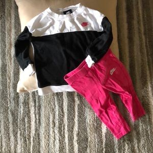 Nike Long Sleeve Top and Leggings Size 18 Months